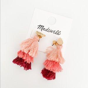 Madewell Boho Tiered Tassel earrings